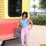 beach latino girl taken back home